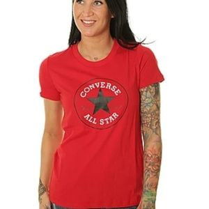 converse all *star women's top  red size large